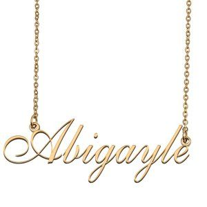 Custom Personalized Abigayle Name Necklace